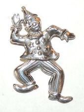 Sterling Silver Moveable Dancing clown Pin (12024)