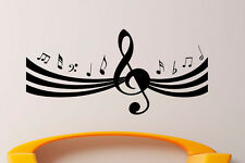 Music Wall Decal Vinyl Sticker Music Notes Treble Clef Interior Art Decor (34mu)