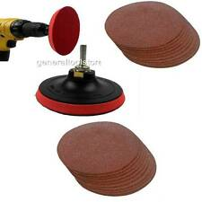 DRILL MOUNT 125 MM VELCRO SANDING SYSTEM + 20 PADS , COARSE + MEDIUM DISCS