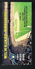 1984 Milwaukee Brewers Baseball MLB Media GUIDE