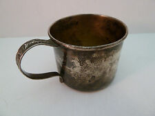 Antique Rogers, Lunt, Bowlen Child's Cup Sterling Silver Monogrammed Baby Cup