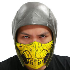 Scorpion Helmet Mask MKX Cosplay Costume Accessories for Halloween PVC