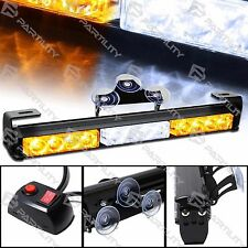 "14"" LED White Amber Light Emergency Warning Strobe Flashing Bar Hazard Security"