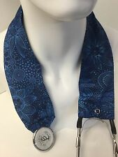 Blue Floral Swirl MD RN EMT LPN Stethoscope Cover Buy 3 GET FREE SHIPPING