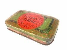vintage R. A. Patterson Lucky Strike Tobacco Cut Plug tin  (lot A)