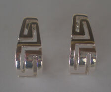 Ancient Greece Meander Sterling Silver 925 Earrings - Maiandros Greek Key Design