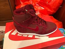 New Nike Womens Dunk Sky Hi Essential Wedge Shoes 644877-603 sz 8.5 RED