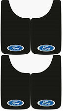 4PK FORD OVAL LOGO 11X19 MUD FLAP SPLASH GUARDS FOR TRUCKS, SUVS, CARS, AND VANS