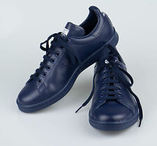 New. ADIDAS RAF SIMONS STAN SMITH Navy Blue Leather Sneakers Shoes 7/40 $455