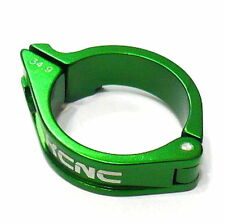 gobike88 KCNC Front Derailleur Clamp, 34.9mm, 16g, Green, E66