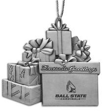 Ball State University  - Pewter Gift Package Ornament