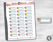 ABA Therapy Planner Stickers - write on blank label calendar condren reminders