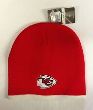 Kansas City Chiefs Knit Beanie Winter Hat Toque Skull Cap Red  w/ White trim