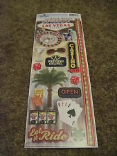 "Scrapbooking Stickers Cardstock Paper House 13"" Las Vegas Casino Slot Cards Dice"