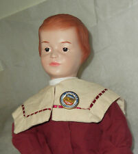 "Adorable Reproduction SCHOENHUT Boy 1998 US Postal Stamp Doll 16"" MIB"