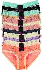 Pack of 6 pcs Two Tone Lace Bikini Panties Lot New LP7966LK Size: M
