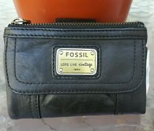 FOSSIL Emory leather wallet, color  black