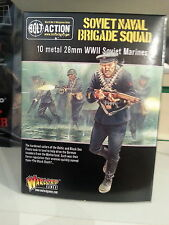 WARLORD GAMES BOLT ACTION SOVIET NAVAL BRIGADE SQUAD 28MM 1/56 SCALE MINIATURES