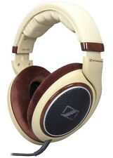 Sennheiser HD 598 Headphones Over-Ear Open Back. Brown Cream Ivory.