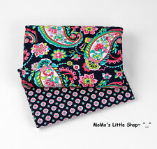 Beautiful Vera Bradley 100% Cotton Fabric(Petal Paisley)—2 Matching Fat Quarters