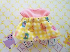 Kelly Krissy Friends Baby Clothes *Krissy's Pink Yellow Checkered Dress*