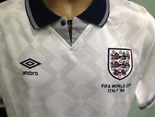 RARE WORLD CUP 1990 ENGLAND FOOTBALL SHIRT GASCOIGNE 19