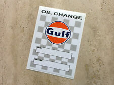 Gulf Oil Change sticker 75 x 105 mm  - Gulf Licensed Merchandise