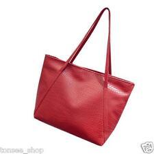 Frauen Handtasche Leder Umhängetasche Damen Messenger Tasche Portemonnaie Rot