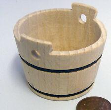 1:12 scala vuota in legno per bucato Lavatrice vasca DOLLS HOUSE miniatura Accessorio