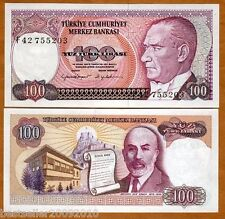 TURKEY 100 LIRASI UNC  # 221