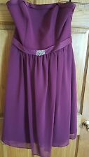 New Alfred Angelo ♢ Women's ♢ Size 12 ♢ Plum ♢ PARTY DRESS, EVENING, WEDDING