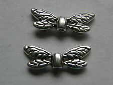Antique Silver Dragonfly Wings 22 x 8mm x 10