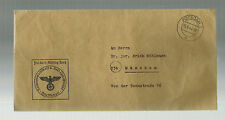 1944 Potsdam Germany People's Court Stampless Cover to judge Erich Muhlmann
