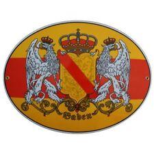 GRAN Baden con Escudo Correo electrónico Signo de Bandera Esmalte 37,5x28,5cm