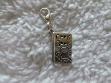 COOK BOOK -  SILVER TONE CLIP ON CHARM....CUTE!!