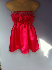 rose satin dress adult baby fancy dress sissy french maid cosplay chest 36-44