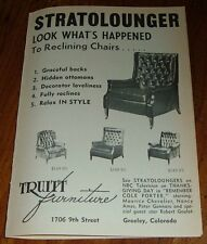 1965 STRATOLOUNGER CHAIR PRINT AD~TRUITT FURNITURE in GREELEY,COLORADO