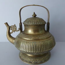 19th siècle malaysian islamic brass lavage de mains kettle