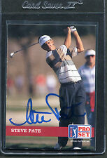 1992 Pro Set Golf Steve Pate #77 Signed Autograph
