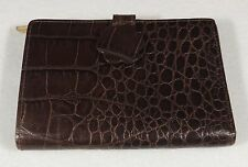 Furla Italy Leather Embossed Crocodile Alligator Snap Close Bifold Wallet EUC