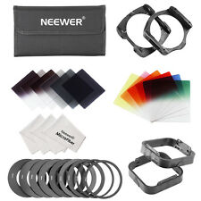 Neewer Square Filter Kit+Ring Adapter+Filter Holder+Lens Hood+Cleaning Cloth