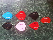 PERSONALISED / PRINTED R4X DART FLIGHTS 10 SETS 30 FLIGHTS CHRISTMAS GIFT