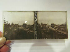 plaque verre stereo photo guerre 1914 18 militaire four de paris alerte au gaz 9