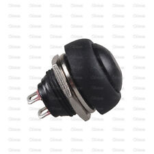 5Pcs Black 12mm Waterproof Momentary ON/OFF Push Button Mini Round Switch