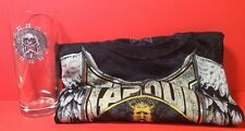 TAPOUT Tee Shirt & Glass Black Short Sleeve Size 18/20 XL NWT & Clear Skull Pint