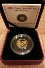 2012 1/4 oz. OUNCE PURE GOLD COIN WAR OF 1812 (MINTAGE 762 of 2000) RCM