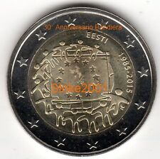NEW !!! 2 EURO COMMEMORATIVO ESTONIA 2015 30° Bandiera Europea