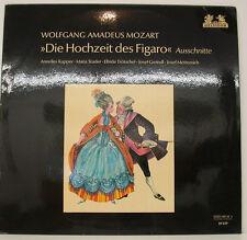 """MOZART DIE HOCHZEIT DES FIGARO KUPPER STADER TRÖTSCHEL GREINDL 12"""" LP (f242)"""