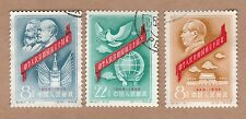 China, People's Republic 1959 The 10th Anniversary of People's Rep. 3 CTO stamps