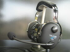 TELCOM TC-50AS Pilot Aviation Headset Made in Germany Piloten Headset